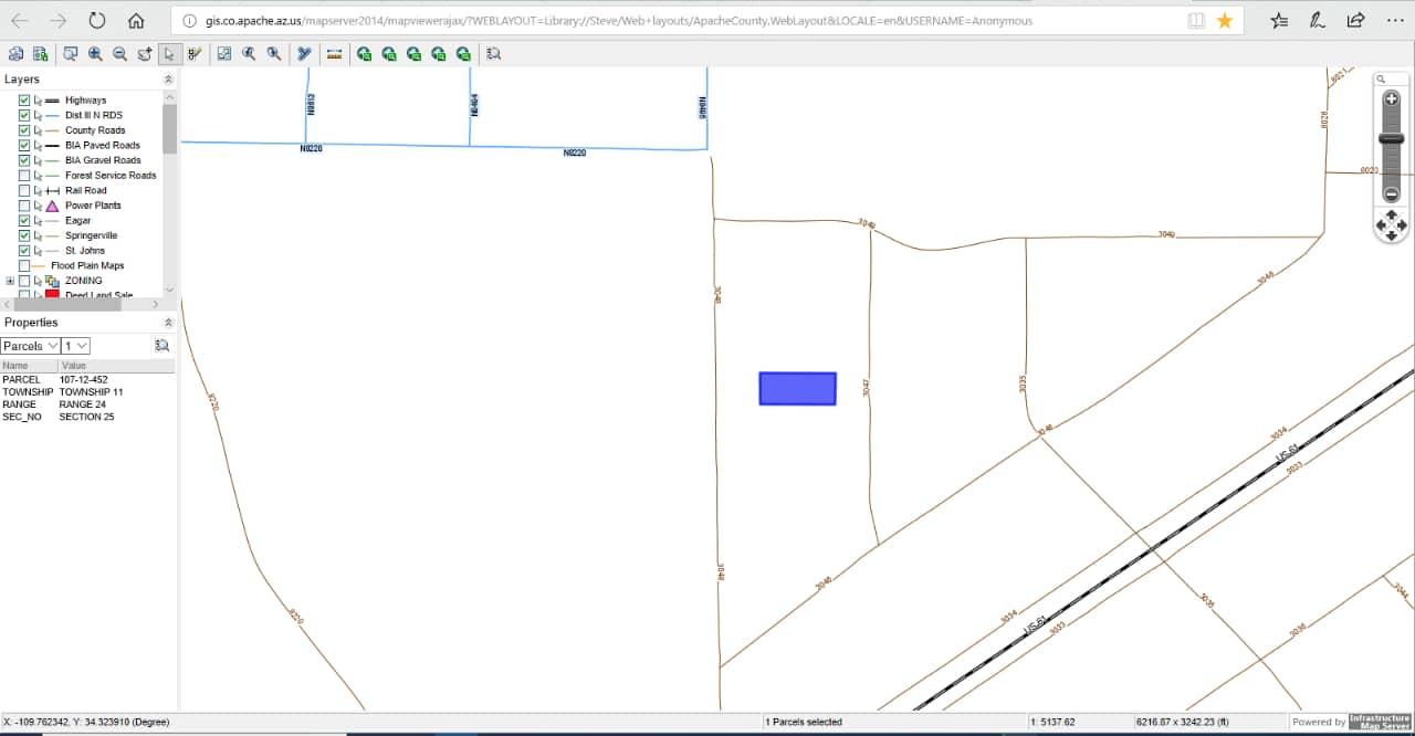 Concho Arizona Map.1 14 Acres Concho Arizona Apn 107 12 452 Apxn Property