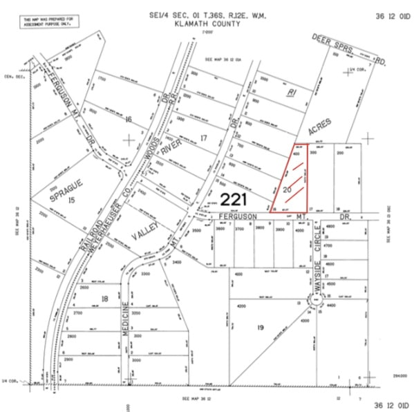 3.02 Acres, Small Land For Sale Chiloquin Oregon