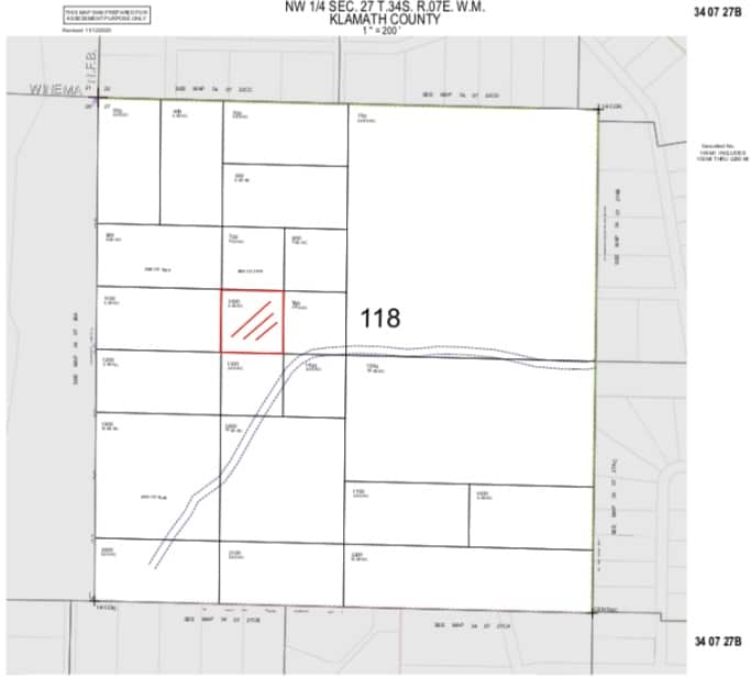 2.45 Acres, Mapping Raw Land Chiloquin Oregon