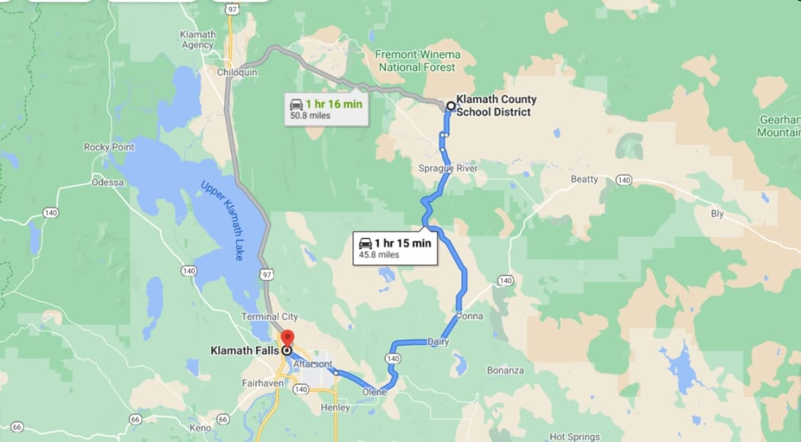 5.62 Acres,map land Chiloquin OR,