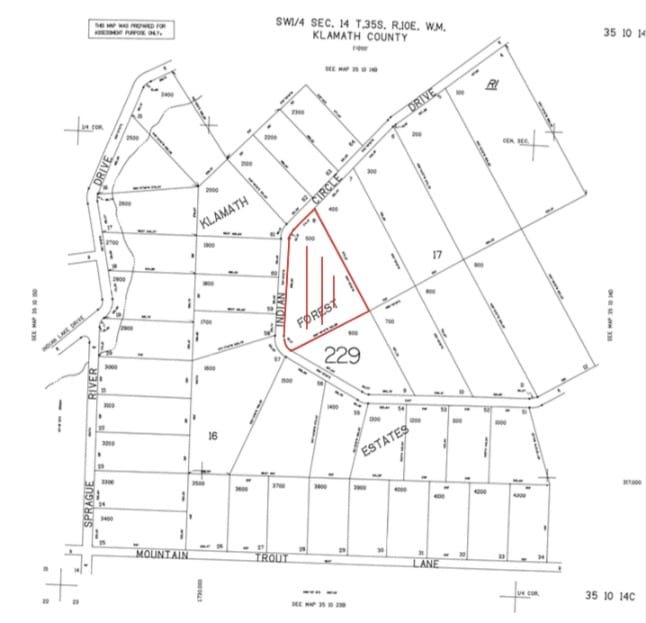 5.62 Acres, map cheap raw land Chiloquin OR,